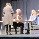 Sebastian Faulks signing books at the Bath Literature Festival