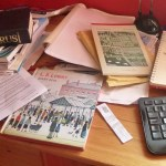 Roy's desk in its 'natural' state