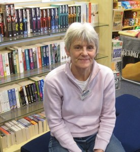 Margaret volunteer in BooksPlus