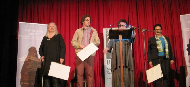 Poets: Carol Ann Duffy, Jonathan Edwards, Jackie Kay, Imtiaz Dharker, Gillian Clarke