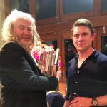 Owen Sheers with Richard Davies at Penfro 2016