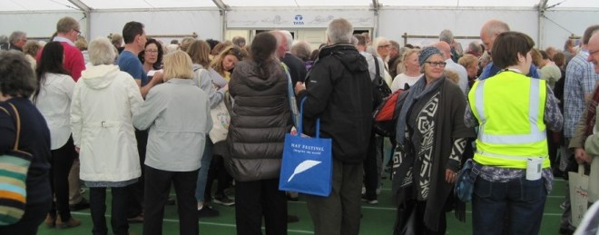stewarding at hay festival