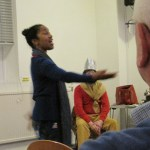 Mary Anne Roberts performed a traditional Twelfth Night African slave dance / song