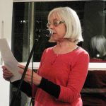 Amanda Rackstraw reading at the Edward Thomas 100 event