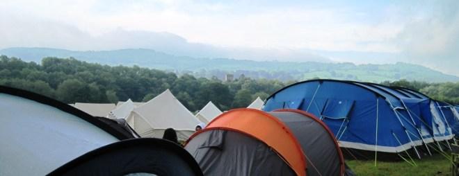 campsite at hay festival