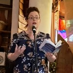 Christina Thatcher reading her poems
