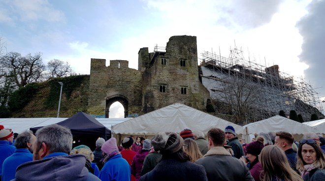 market stalls by Hay castle