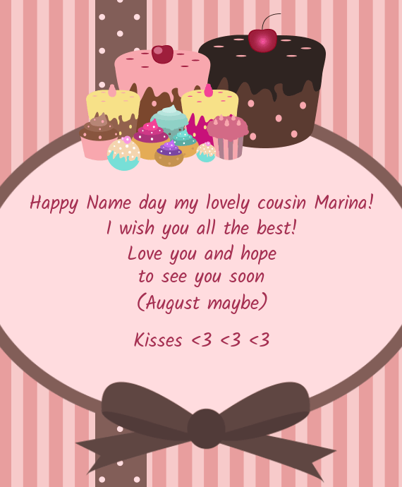 Happy Name Day My Lovely Cousin Marina Free Cards