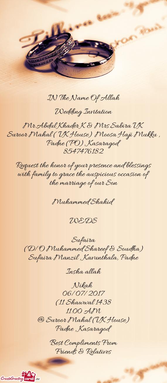 Marriage Invitation Design