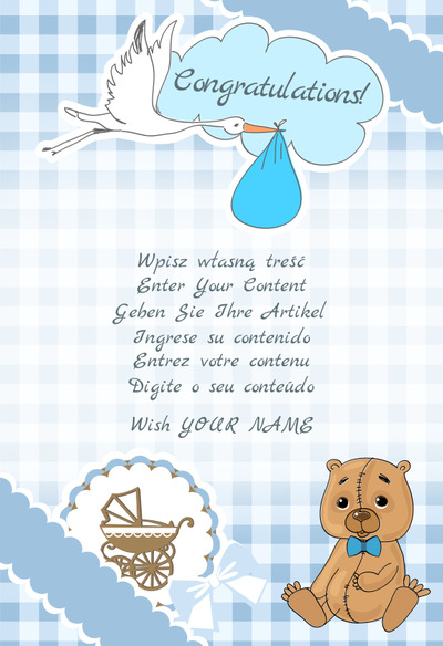New Born Baby Cards Create Your Own Card For Free And