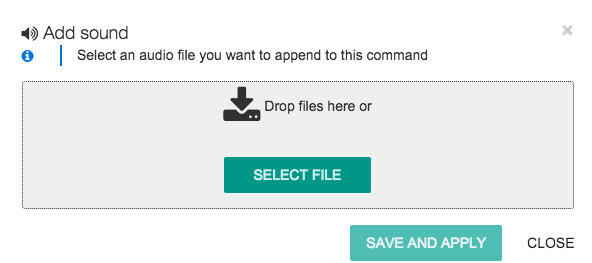 Select a Sound File to Upload