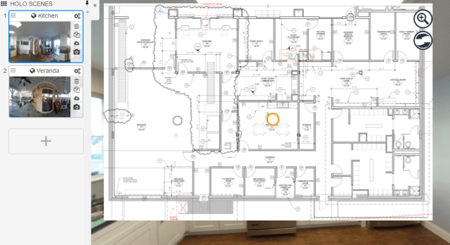 Floor Plan View in HoloBuilder