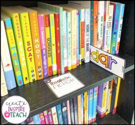 classroom library organization shelf markers