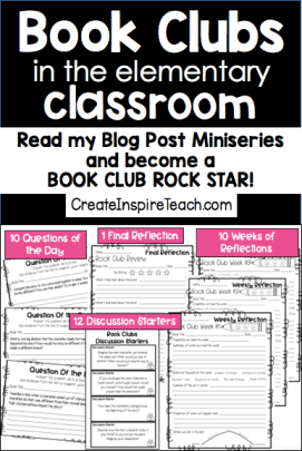 book clubs in the elementary classroom pin