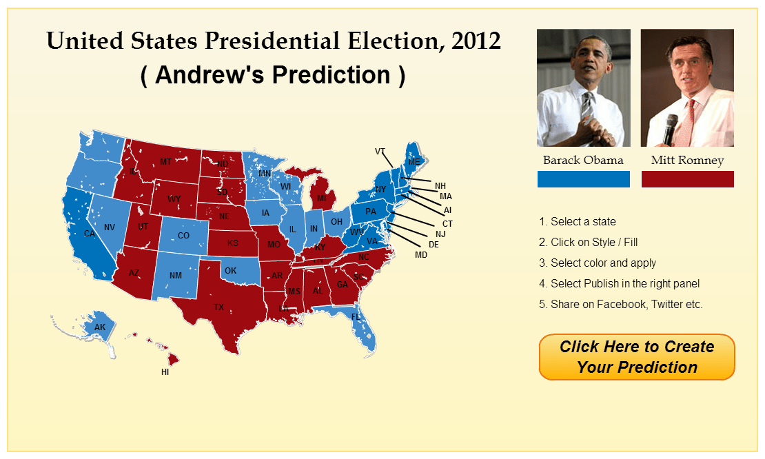 predict us presidential results 2012 using infographics