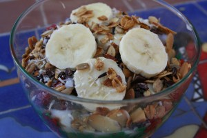 Coconut Yogurt and Trail Mix with Vanilla Almond Granola