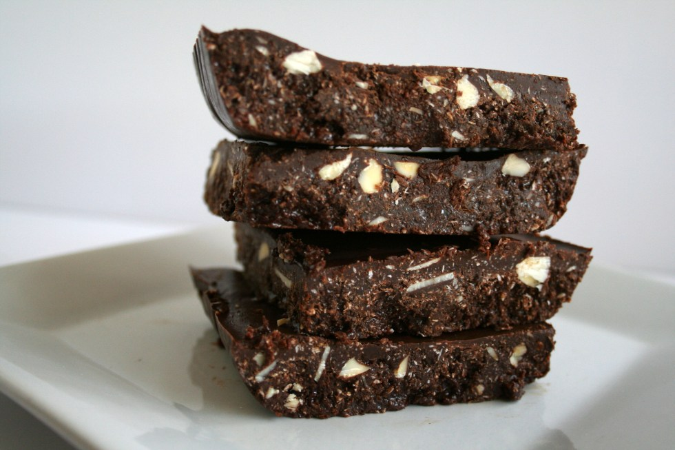 Raw Chocolate Coconut Almond Bark (vegan, gluten free) - This sweet rich almond bark can be customized to your tastes. Make it thick or thin. Add your favorite ingredients.