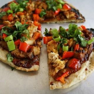 Chinese Pizza with Ginger Garlic Tofu