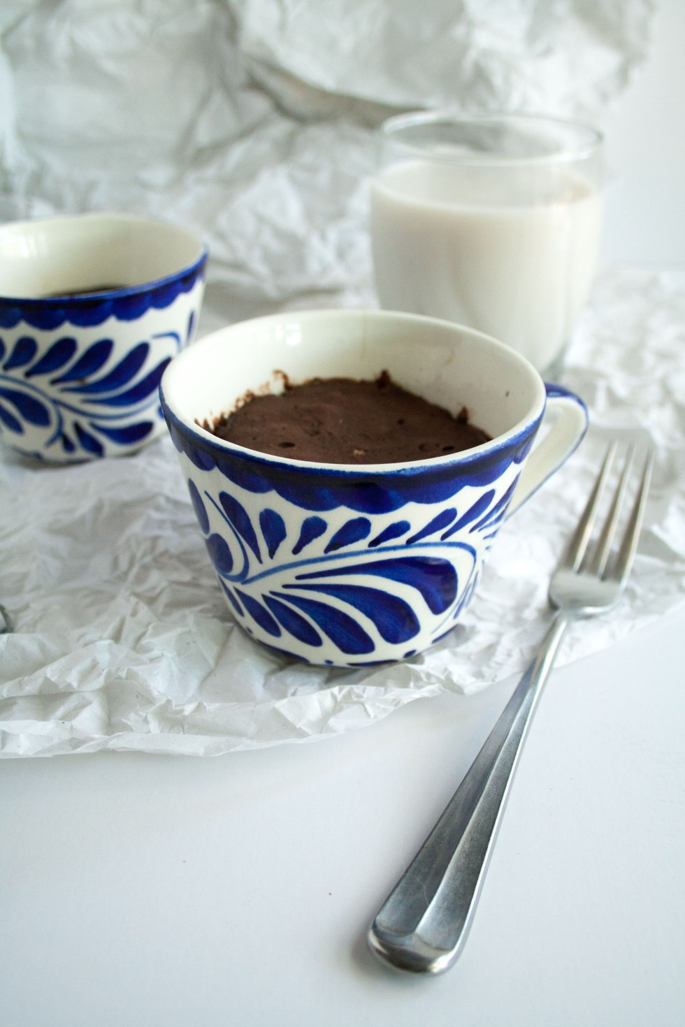 Chocolate Coffee Mug Cake (vegan, gluten free) - This easy one serving dessert takes minutes to make. Perfect for when you want a quick treat!