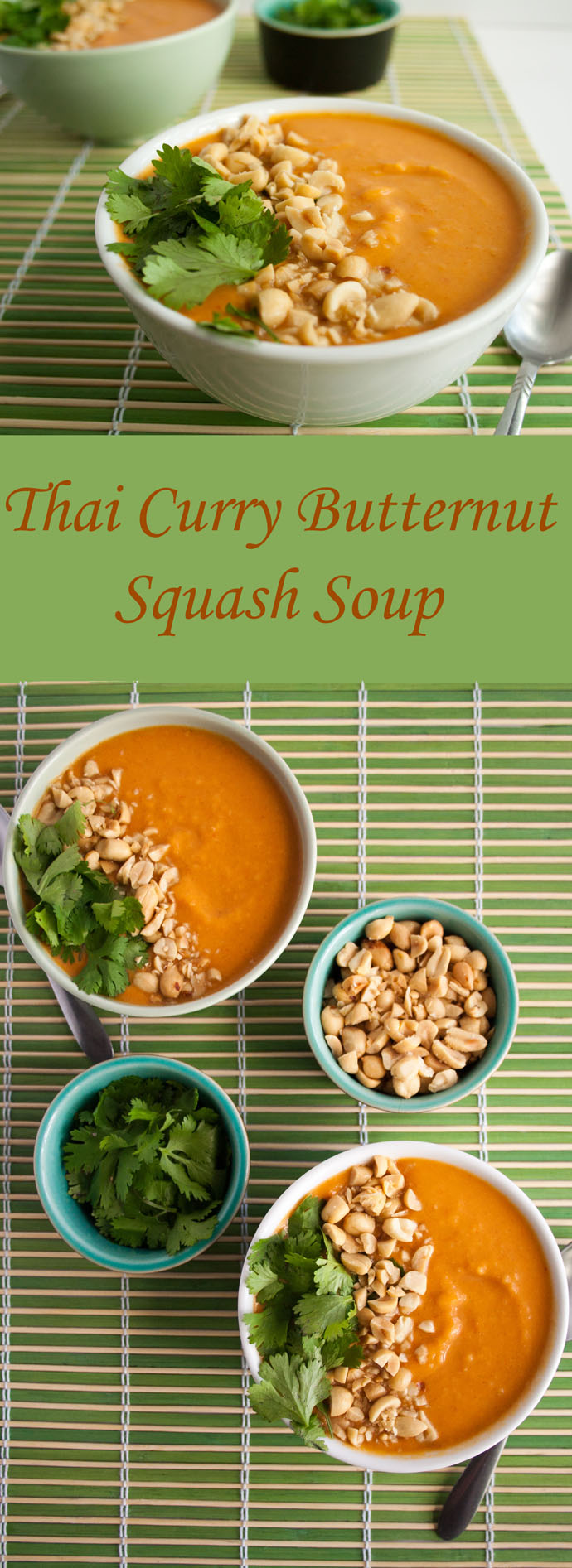 Thai Curry Butternut Squash Soup (vegan, gluten free) - This comforting curry soup is a perfect meal to warm you up on a cool day. It is rich and satisfying!