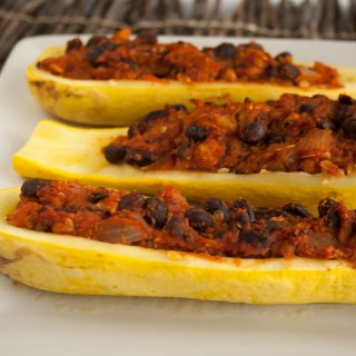 Stuffed Summer Squash Boats