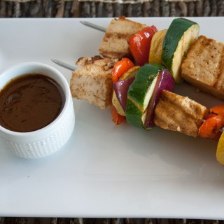 Tofu Kebabs with Hoisen Sauce