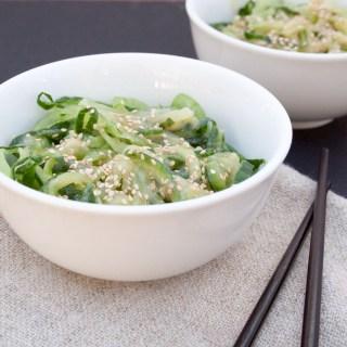 Miso Cucumber Noodles
