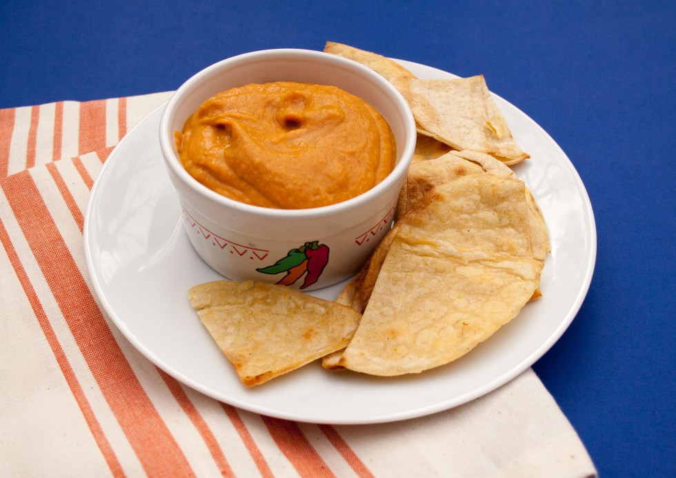 Sweet Potato Nacho Cheese (vegan, gluten free) - This works well as a dip, slathered on nachos, or used in a taco salad. It can be eaten hot or cold.