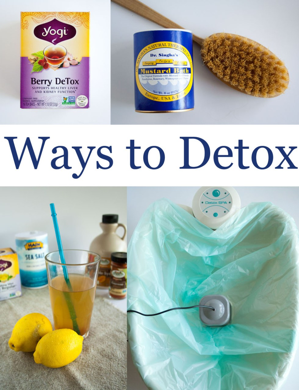 Ways to Detox - There are many ways to detox: from daily to seasonal, and gentle to rigorous. Choose the one that is right for you!