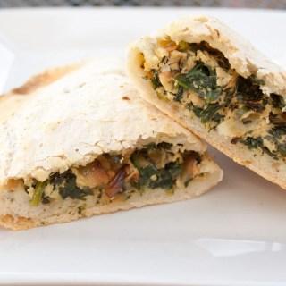 Spinach and Tofu Ricotta Calzones