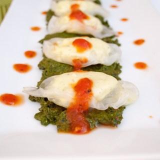 Tofu Ricotta Ravioli with Sun-Dried Tomato Basil Pesto