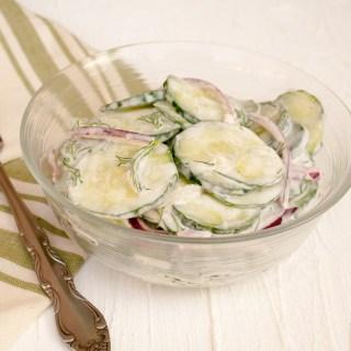 Creamy Vegan Cucumber Salad