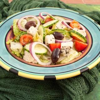 Greek Salad with Tofu Feta