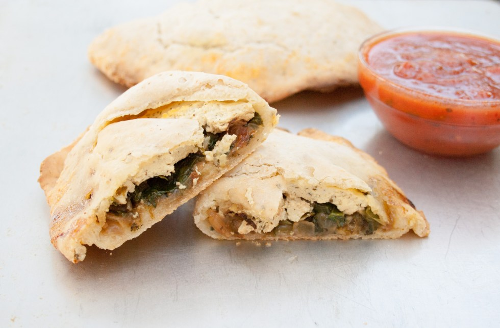 Vegan Calzones - If you are looking for something different for pizza night, how about these Vegan Calzones! They are portable and filling just like pizza, but a bit less messy.