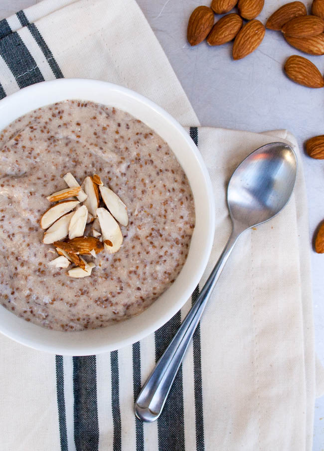 Almond Chia Pudding - This vegan pudding is great for breakfast or a snack.