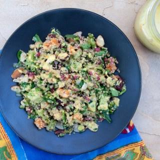 Sweet Potato, Broccoli, and Pomegranate Quinoa Salad