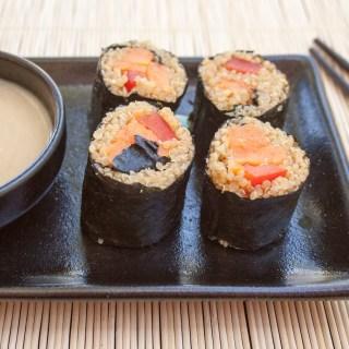 Sweet Potato Sushi Rolls with Quinoa