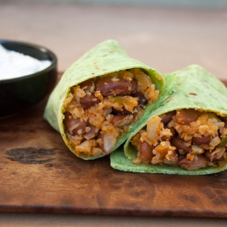 Bean and Mexican Cauliflower Rice Burritos