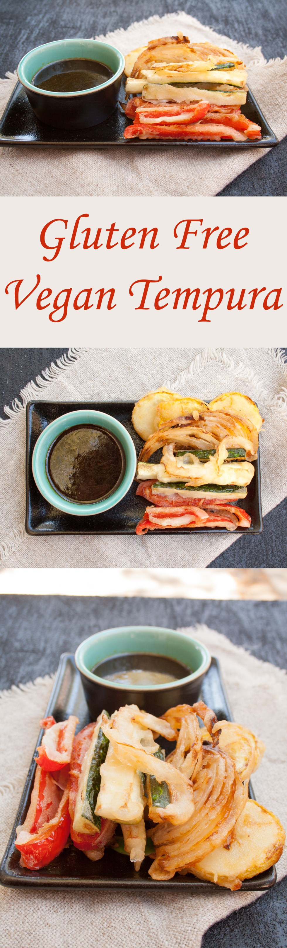 Gluten Free Vegan Tempura - These tempura vegetables are crispy and satisfying. Eat them with a sweet or savory dipping sauce.