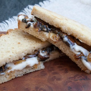 Vegan Caramelized Onion and Mushroom Grilled Cheese