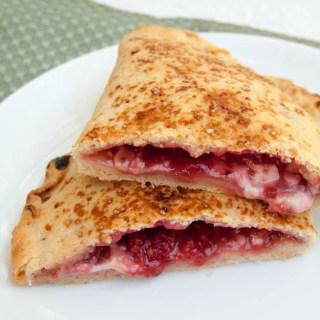 Vegan Raspberry Calzones