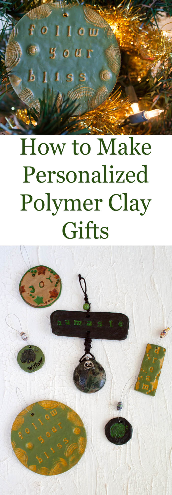How to Make Personalized Polymer Clay Gifts - These easy DIY polymer clay gifts are something that anyone can make. You need very few materials to get you started.