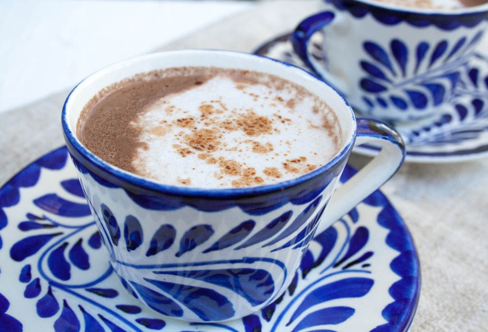 Vegan Mexican Hot Chocolate (gluten free) - This recipe has a deep, rich chocolaty flavor with hints of cinnamon, nutmeg, and cayenne pepper. Add a dollop of coconut whipped cream for even more indulgence!
