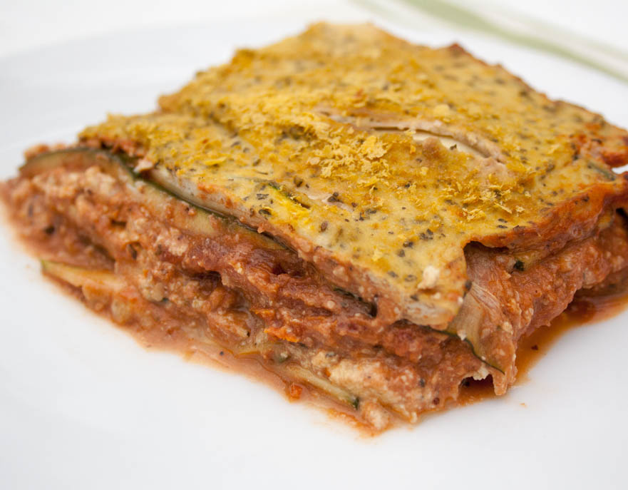 Vegan Zucchini Lasagna with Tofu Ricotta and Walnut Sauce (gluten free) - This recipe is indulging, yet guilt-free! It is low carb, healthy, and satisfying!