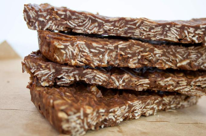Vegan Chocolate Peanut Butter Granola Bars