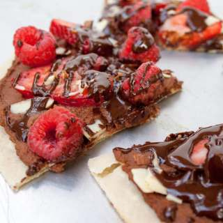 Berry and Chocolate Hummus Dessert Pizza