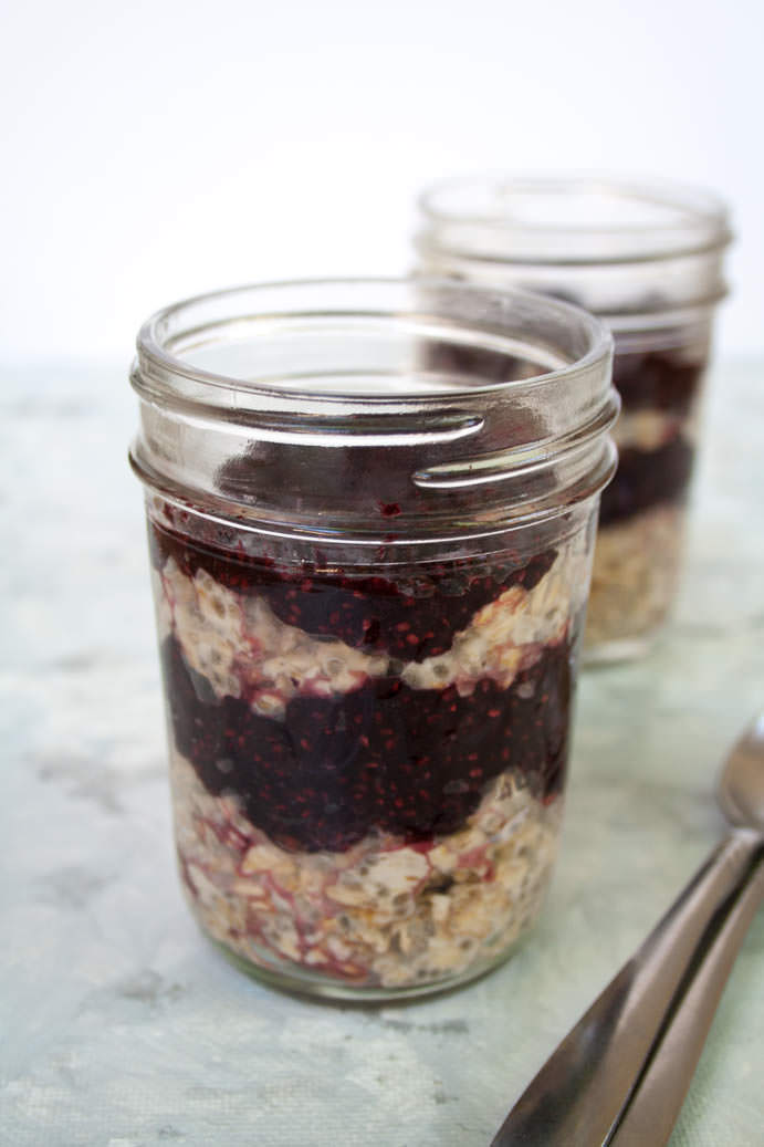 Peanut Butter and Jelly Overnight Oats