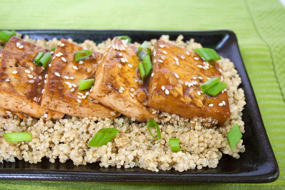 Ginger Hoisin Tofu close up