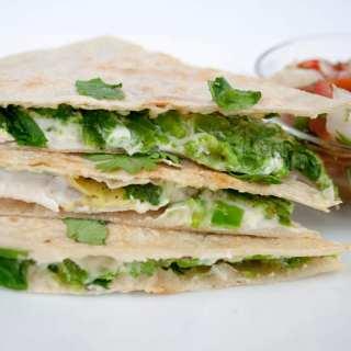 Vegan Avocado Quesadilla with Jalapeño