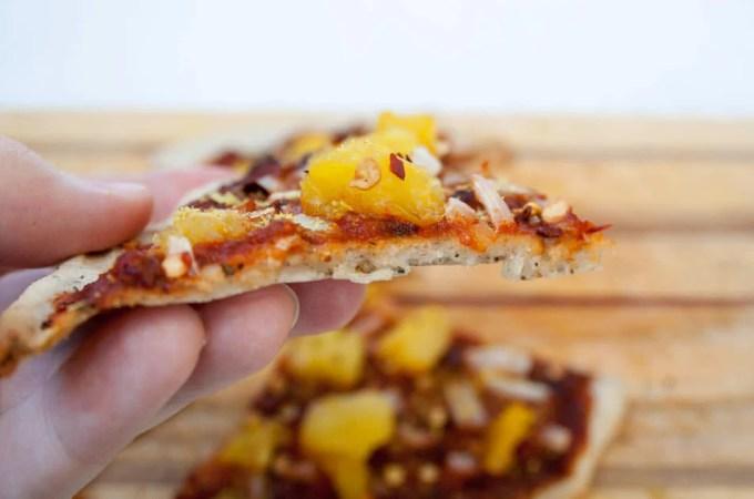 Vegan Gluten Free Pizza Crust with Coconut Yogurt